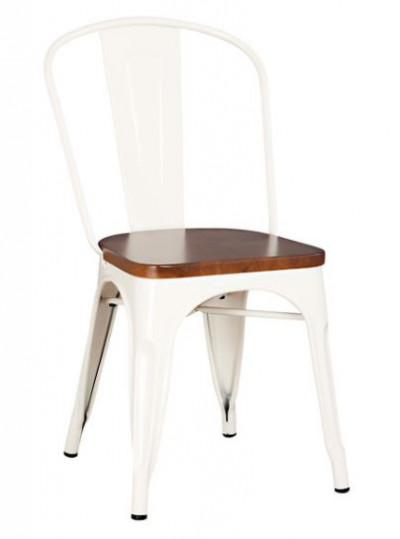 Silla blanca industrial brushed